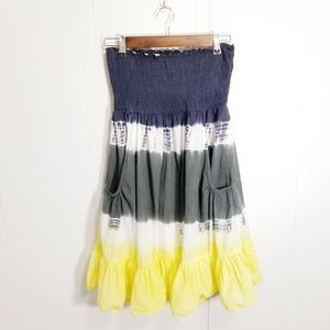 Forever 21 S watercolor midi skirt with pockets